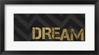 Framed Chevron Sentiments Black/Gold Panel IV