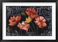 Framed Flowers in Bloom Chalkboard Landscape