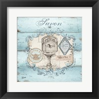 Rustic French Bath I Framed Print