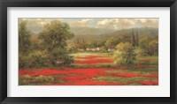 Framed Poppy Village