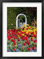 Framed Hately Gardens, Victoria, British Columbia