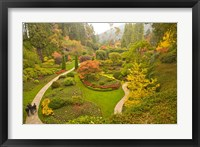 Framed Sunken Garden, Butchart Gardens, Victoria, BC