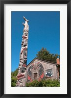 Framed Haida Totem Pole and Tourist Shop, Queen Charlotte Islands, Canada