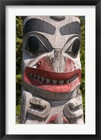 Framed Totem Pole, Queen Charlotte Islands, Canada