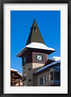 Framed British Columbia, Sun Peaks Resort, clock tower