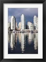 Framed Buildings along False Creek, Vancouver, British Columbia, Canada