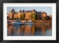 Framed British Columbia, Victoria, Empress Hotel, Harbor