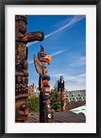 Framed British Columbia, Victoria, Native American Totems