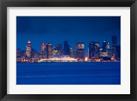 Framed City view form North Vancouver, British Columbia, Canada