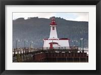 Framed Lighthouse, Port Alberni, Harbor Quay Marina, Vancouver Island, British Columbia, Canada