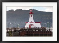 Framed Lighthouse, Port Alberni, Harbor Quay Marina, Vancouver Island, British Columbia, Canada