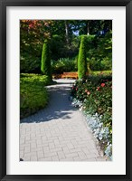 Framed Trail Through the Butchard Gardens, Victoria, British Columbia, Canada