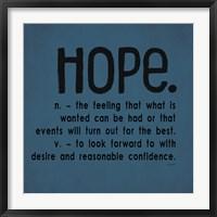 Framed Definitions-Hope III