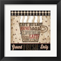 Framed Premium Coffee I