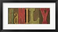 Printers Block Sentiment Spice I - Family Framed Print