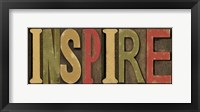 Printers Block Sentiment Spice II - Inspire Framed Print