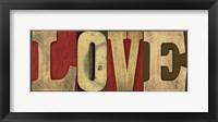 Printers Block Sentiment Spice V - Love Framed Print