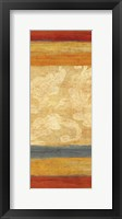 Framed Tapestry Stripe Panel I