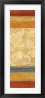 Tapestry Stripe Panel I Framed Print