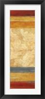 Tapestry Stripe Panel II Framed Print