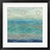 Abstract Waves Blue/Gray II Framed Print