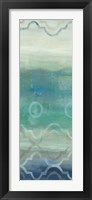 Framed Abstract Waves Blue/Gray Panel I
