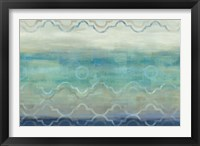 Abstract Waves Blue/Gray Framed Print