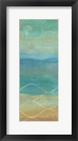 Framed Abstract Waves Blue Panel II