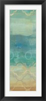 Abstract Waves Blue Panel I Framed Print