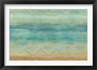 Framed Abstract Waves Blue