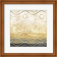 Framed Abstract Waves Black/Gold II