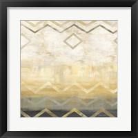 Abstract Waves Black/Gold I Framed Print