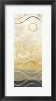 Abstract Waves Black/Gold Panel II Framed Print