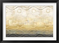 Framed Abstract Waves Black/Gold