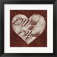 Framed Graffiti Heart I