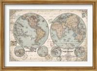 Framed World Hemispheres