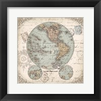 World Hemispheres II Framed Print