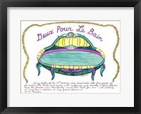 Framed Deux Pour Le Bain