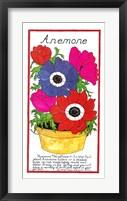 Anemone Framed Print