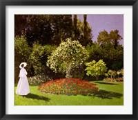 Framed Jeanne Marie Lecadre in the Garden, 1866