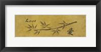 Love Bamboo Framed Print