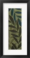 Light Green Leaves Framed Print