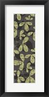 Green Gray Leaves Framed Print
