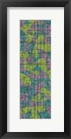 Green & Blue Leaves on Gray Framed Print