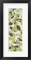 Green Leaves on Cream Framed Print