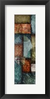 Rectangle With Circles 6 Left Framed Print
