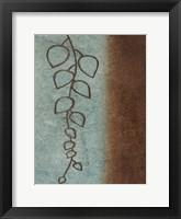 Brown & Blue Leaves II Framed Print