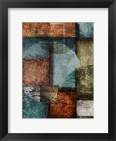 Rectangles with Circles - Left Framed Print