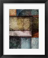 Rectangles with Circles - Right Framed Print