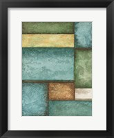 Rectangle  Blue Velvet I Framed Print